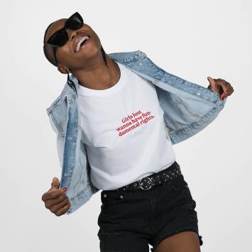 Camiseta · Girls just wanna have fundamental rights