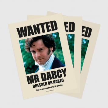 Lámina · Wanted Mr Darcy