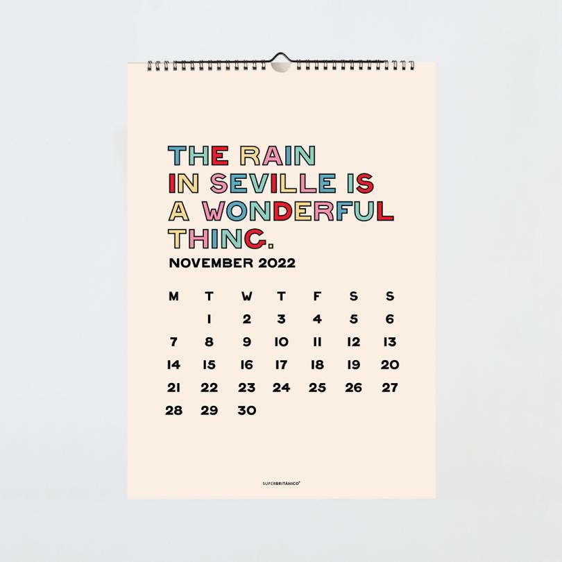 Calendario 2022 · Sevilla has special colours